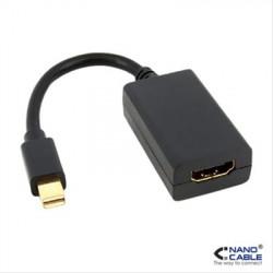 CONVERSOR MINI DP A HDMI, MINI DP/M-HDMI A/H 0.15M NEGRO