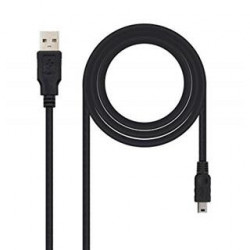 CABLE USB 2.0 A/M-MINI USB B/M 1M NEGRO NANOCABLE