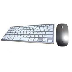 TECLADO Y RATON USB PRIMUX C100 SLIM PLATA