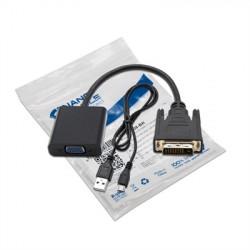CONVERSOR DVI 24+1 A VGA HDB15 H NEGRO 10CM