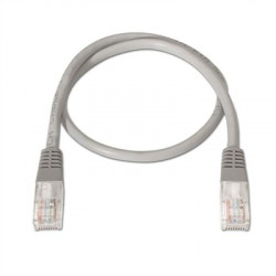 CABLE RED LATIGUILLO RJ45 CAT.6 UTP AWG24,0.3M GRIS NANOCALBLE