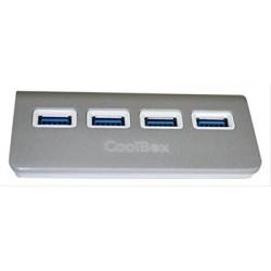 HUB USB 3.0 4 PUERTOS COOLBOX ALU3 CUATRO SILVER