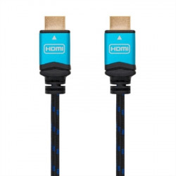 CABLE HDMI V2.0 4K 60HZ 18GBPS, AM-AM, NEGRO 3M NANOCABLE