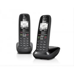 TELEFONO INALAMBRICO GIGASET AS405 DUO NEGRO·