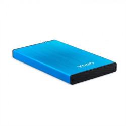 "CAJA EXTERNA 2.5"" SATA TOOQ AZUL USB 3.0 / 3.1"
