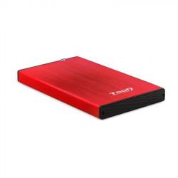 """CAJA EXTERNA 2.5"""" SATA TOOQ ROJA USB 3.0 / 3.1"""