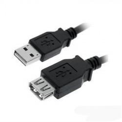 CABLE USB 2.0 PROLONGACION A/M-A/H 1.0M NEGRO NANOCABLE