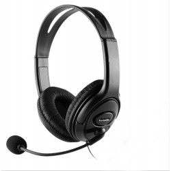 AURICULARES + MICROFONO COOLBOX COOLCHAT U1 USB NEGRO