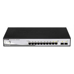 SWITCH GIGABIT DGS-1210-10P POE SMART + 2 COMBO D-LINK