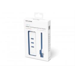 HUB USB 3 PUERTOS USB 3.0+ RJ45 TP-LINK