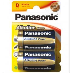 PILA PANASONIC LR20 ALKALINE 2 UNIDADES