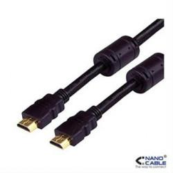 CABLE HDMI V1.4 ALTA VELOCIDAD/HEC FERRITA A/M-A/M 1.8M NANOCABLE
